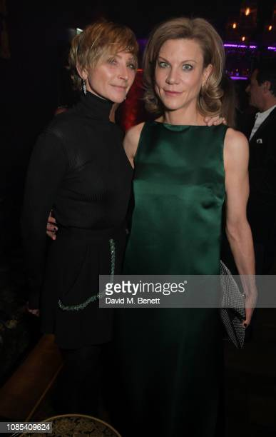Jo Manoukian and Amanda Staveley attend Lisa Tchenguiz's birthday party at Buddha Bar Knightsbridge on January 19 2019 in London England