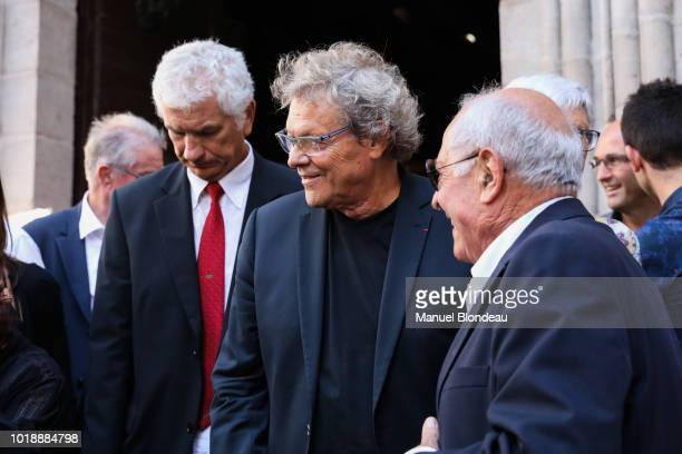 Jo Maso is seen at the burial of Pierre Camou in Saint Jean Pied de Port during the Funeral of former rugby player Pierre Camou on August 18 2018 in...