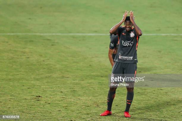Jo of Corinthians during the Brasileirao Series A 2017 match between Flamengo and Corinthians at Ilha do Urubu Stadium on November 19 2017 in Rio de...