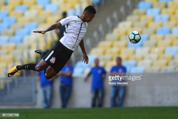 Jo of Corinthians in action during a match between Fluminense and Corinthians as part of Brasileirao Series A 2017 at Maracana Stadium on July 23...
