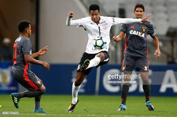 Jo of Corinthians in action during the match between Corinthians and Sport Recife for the Brasileirao Series A 2017 at Arena Corinthians Stadium on...