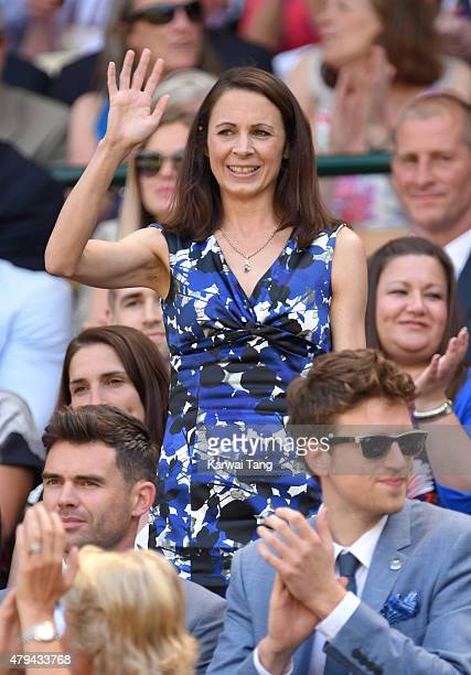 Jo Pavey attends day six of the Wimbledon Tennis Championships at Wimbledon on July 4 2015 in London England