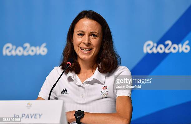 Jo Pavey of Great Britain attends a press conference at the Main Press Centre on August 10 2016 in Rio de Janeiro Brazil