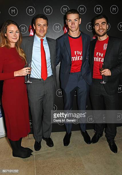 Jo Poulter Ed Poulter Will Poulter and Nat Meyers attend the launch of M Victoria Street in aid of Terrence Higgins Trust on January 27 2016 in...