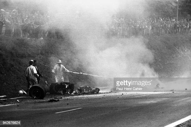 Jo Schlesser Honda RA302 Grand Prix of France RouenLesEssarts 07 July 1968 The awful accident of Jo Schlesser who lost his life in the French Grand...