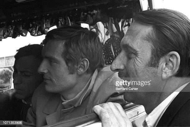 Jo Schlesser JeanClaude Killy Grand Prix of Belgium Circuit de SpaFrancorchamps 09 June 1968 Triple Olympic ski champion JeanClaude Killy with French...