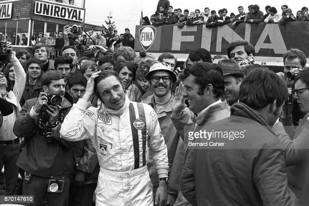 Jo Siffert Brian Redman Porsche 917K 1000 Km of SpaFrancorchamps SpaFrancorchamps 17 May 1970 Jo Siffert and Brian Redman after their victry in the...