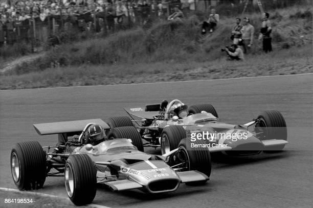 Jo Siffert Graham Hill LotusFord 49B Grand Prix of the Netherlands Circuit Park Zandvoort 21 June 1969