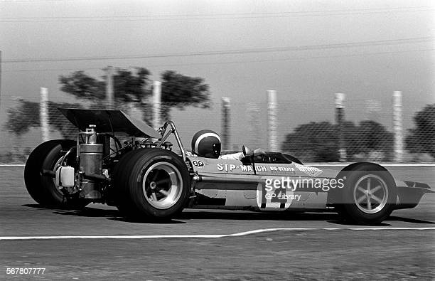 Jo Siffert in a works March 701 during practice for the Spanish GP Jarama Spain 19 April 1970
