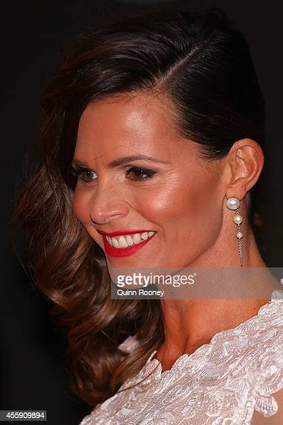 Jo Silvagni the wife of Stephen Silvagni of the Blues attends the 2014 Brownlow Medal at Crown Palladium on September 22 2014 in Melbourne Australia