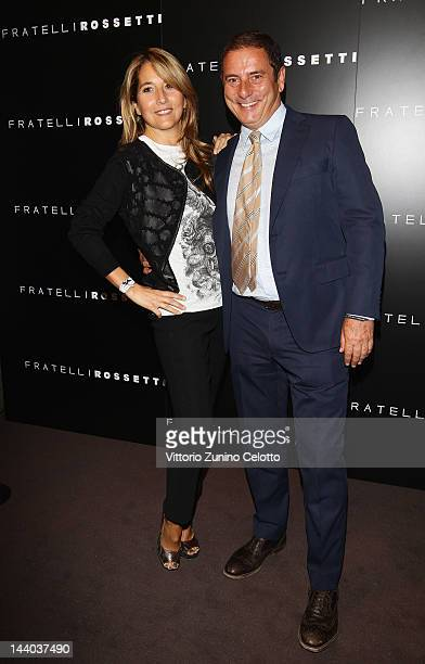 Jo Squillo and Diego Rossetti attend the Fratelli Rossetti Cocktail Party on May 8 2012 in Milan Italy