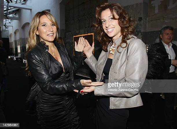 Jo Squillo and guest attend 500 by Gucci Short Film Collection cocktail party on April 16 2012 in Milan Italy