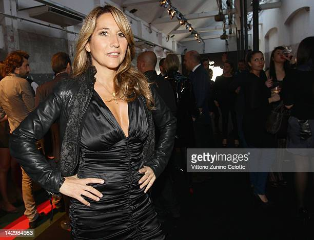 Jo Squillo attends 500 by Gucci Short Film Collection cocktail party on April 16 2012 in Milan Italy