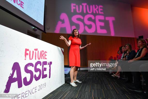 Jo Swinson CBE leader of the Liberal Democrats gives a keynote speech to over 300 schoolgirls registered to attend the free event at the University...