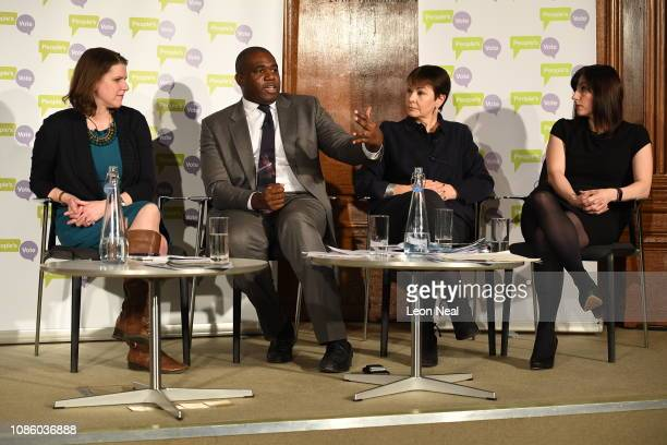 Jo Swinson MP for the liberal Democrats Liberal Democrats David Lammy MP for the Labour Party Caroline Lucas MP for the Green Party and Bridget...