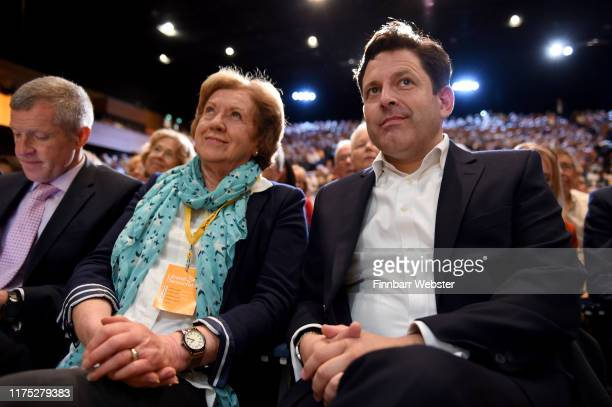 Jo Swinson's mother Annette Swinson and husband Duncan Hames at the Liberal Democrat Party Conference at the Bournemouth International Centre on...