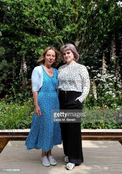 Jo Thompson and Kelly Osbourne visit the Wedgewood Garden & Tea Conservatory at the Chelsea Flower Show 2019 on May 24, 2019 in London, England.