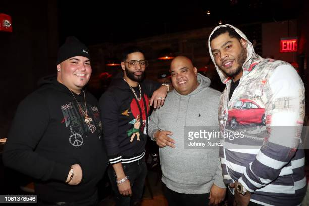 Jo Vanguard recording artist Tru Life Gaby Acevedo and Storm attend the Tru Life 'Walking On Water' Album Listening Party at Brooklyn Chop House on...