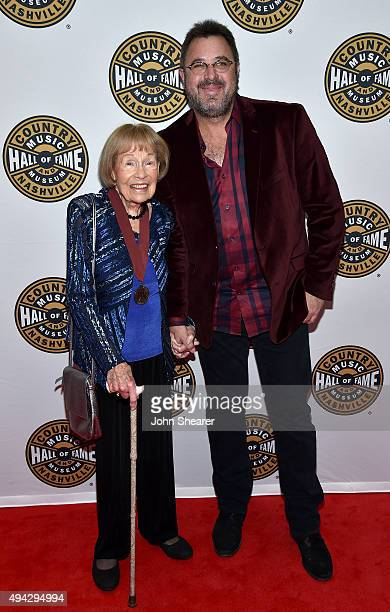 Jo WalkerMeador and Vince Gill attend The Country Music Hall of Fame 2015 Medallion Ceremony at the Country Music Hall of Fame and Museum on October...