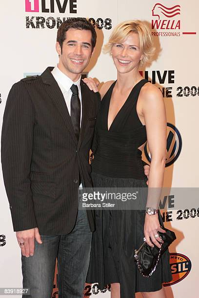Jo Weil and Anne Wiess attend the ''1Live Krone'' awards on December 4 2008 in Bochum Germany