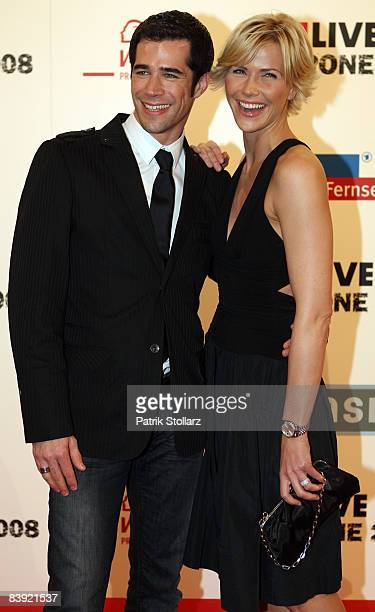 Jo Weil and Anne Wis attends the 1 Live Krone Awards 2008 on December 04 2008 in Bochum Germany