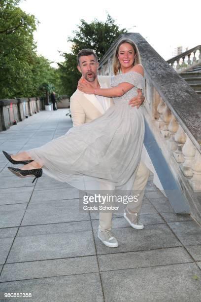 Jo Weil and fashion designer Marina Hoermanseder during the Raffaello Summer Day 2018 to celebrate the 28th anniversary of Raffaello on June 21, 2018...
