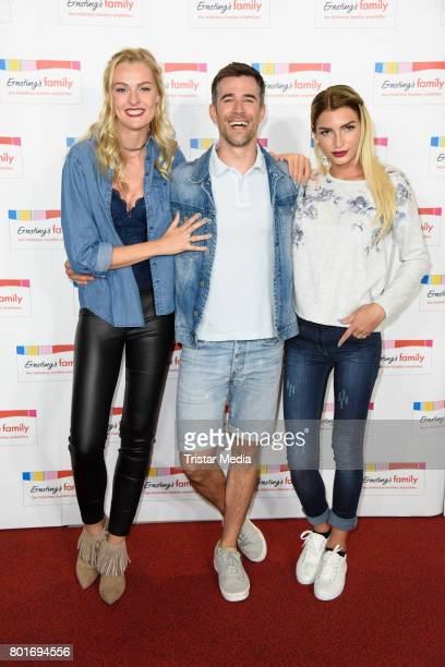 Jo Weil Giuliana Farfalla and Miriam Hoeller attend the Ernsting's Family Fashion Show at Stage Operettenhaus on June 26 2017 in Hamburg Germany