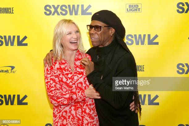 Jo Whiley and Nile Rodgers attend Music Business 101 A QA with Legendary Music Icon Nile Rodgers during SXSW at Austin Convention Center on March 14...