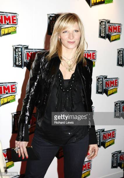 Jo Whiley arrives at the Shockwaves NME Awards 2007 at the Hammersmith Palais in London United Kingdom