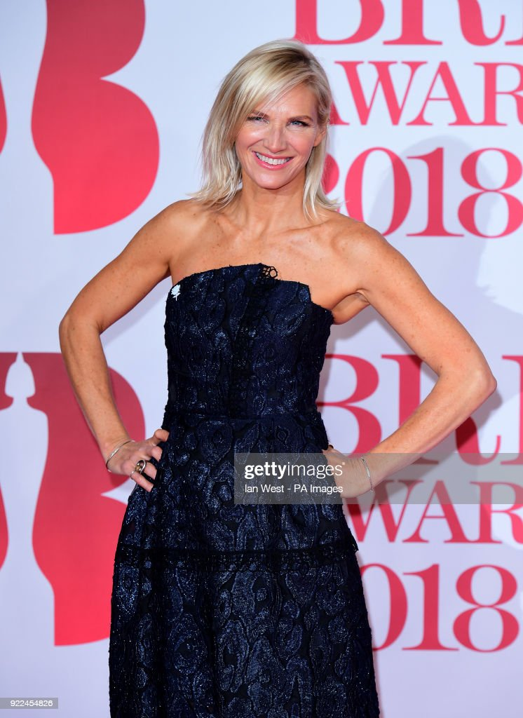 Jo Whiley attending the Brit Awards at the O2 Arena, London