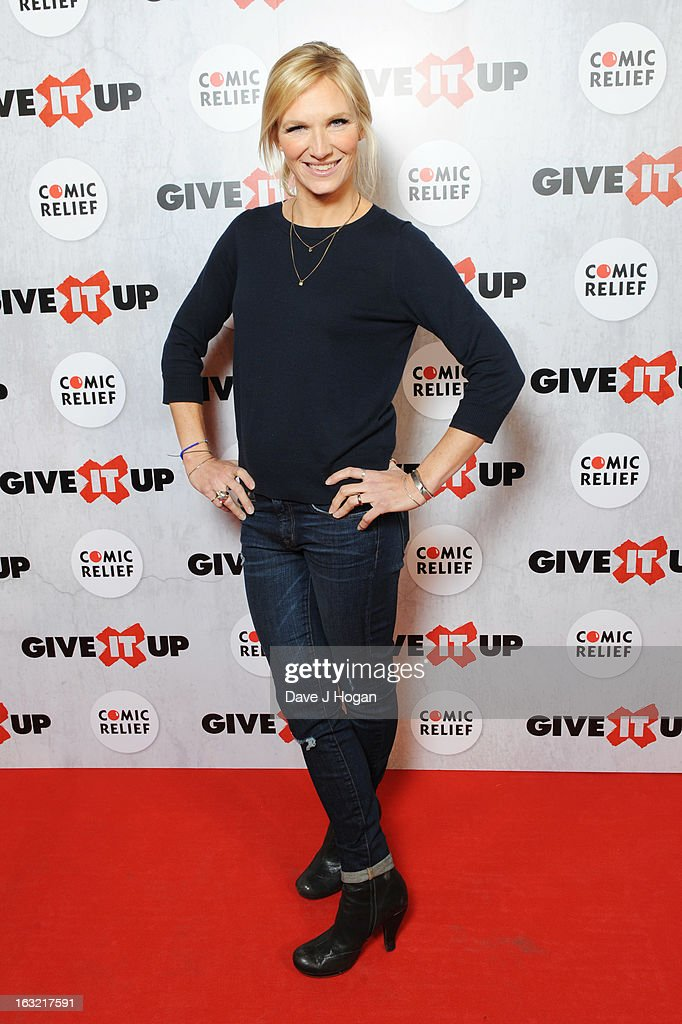 Jo Whiley attends 'Give It Up For Comic Relief' at Wembley Arena on March 6, 2013 in London, England.