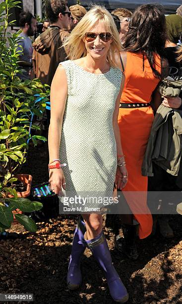 Jo Whiley attends the RayBan Rooms during day three of the Isle of Wight Festival at Seaclose Park on June 24 2012 in Newport Isle of Wight