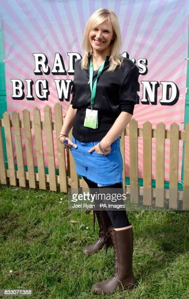 DJ Jo Whiley backstage at BBC Radio 1's Big Weekend in Preston