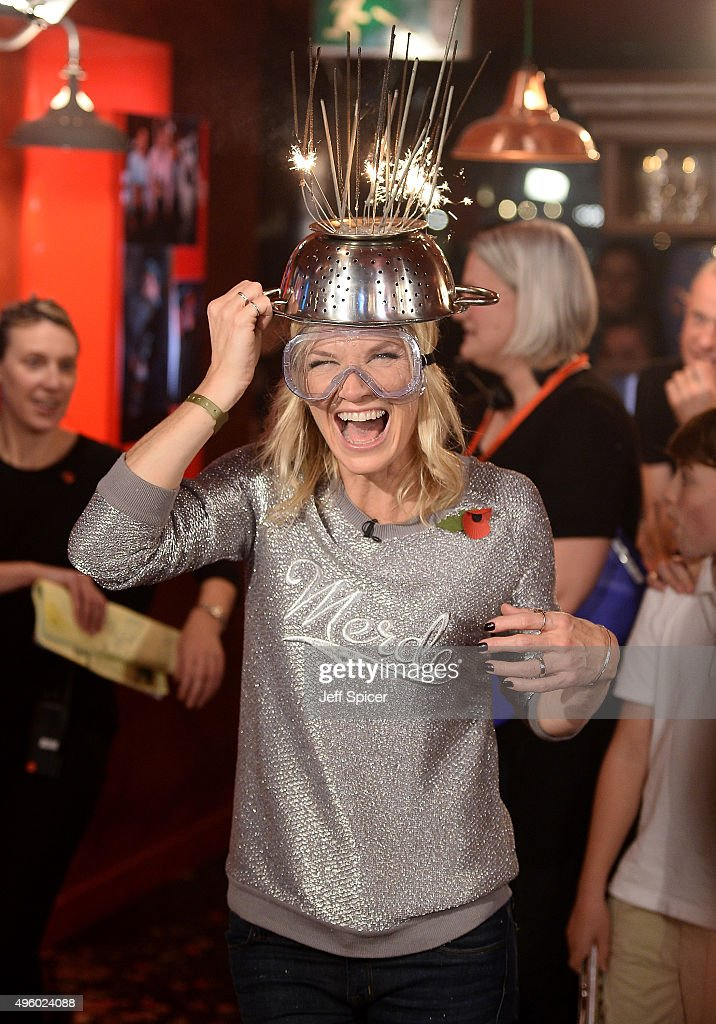 Jo Whiley during a live broadcast of 'TFI Friday' at the Cochrane Theatre on November 6, 2015 in London, England.