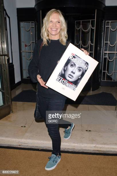 Jo Whiley seen outside the Radio Times covers party Claridges hotel on January 31 2017 in London England