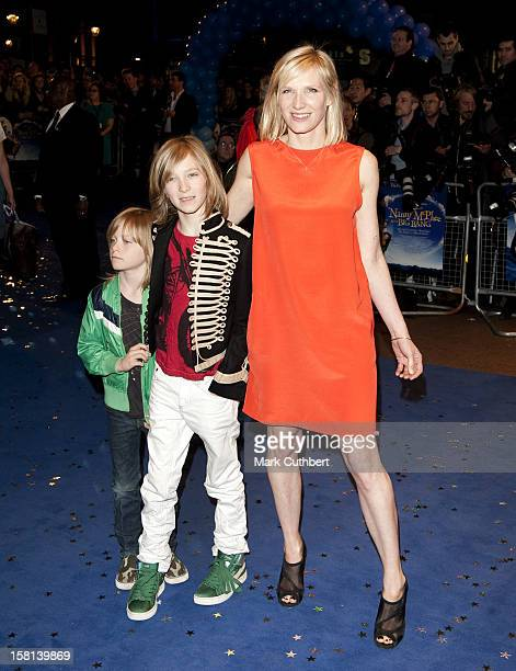 Jo Whiley With Son'S Jude And Jonah Arriving For The World Premiere Of Nanny Mcphee And The Big Bang At The Odeon West End Leicester Square London