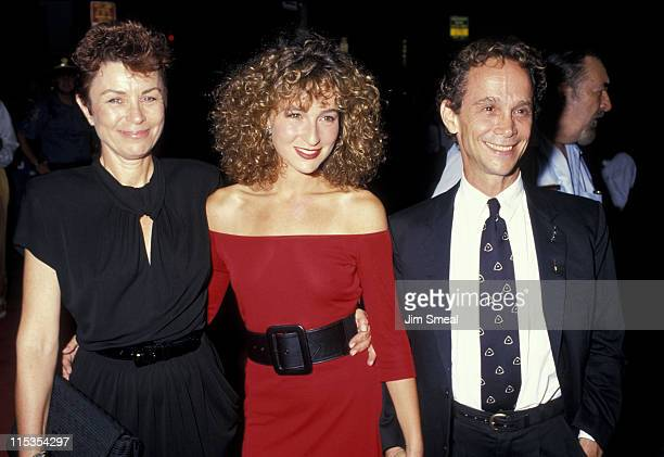 "Jo Wilder, Jennifer Grey, and Joel Grey during Premiere of ""Dirty Dancing"" at Gemini Theater in New York City, New York, United States."