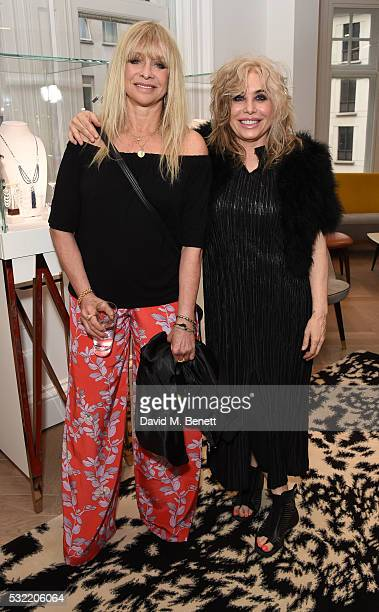 Jo Wood and Brix SmithStart attend the launch of the Stephen Webster Salon on Mount Street on May 18 2016 in London England