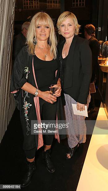 Jo Wood and Flora Starkey attend the Ara Vartanian store opening party on Bruton Place on September 7 2016 in London England
