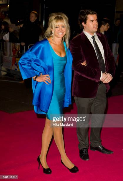 Jo Wood and guest arrive at the UK Premiere of Confessions of a Shopaholic at the Empire Leicester Square on February 16 2009 in London England