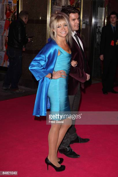 Jo Wood and guest attend the UK Premiere of Confessions of a Shopaholic at Empire Leicester Square on February 16 2009 in London England