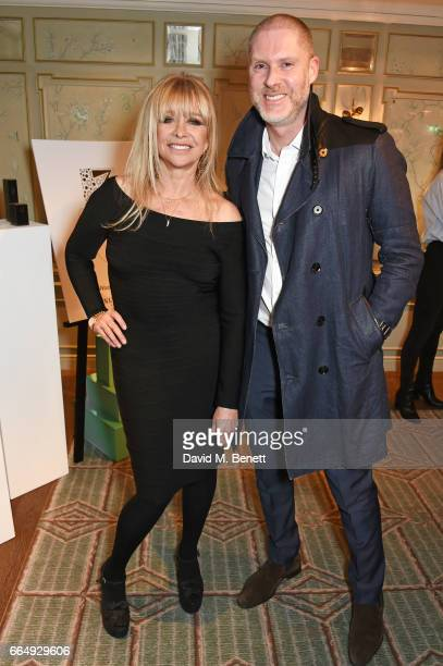 Jo Wood and JeanDavid Malat attend as Jo Wood launches her organics range at Fortnum Mason on April 5 2017 in London England