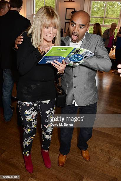 Jo Wood and Jon Denoris attend the launch of 'The PopUp Gym' written by Jon Denoris at Mortons on May 7 2014 in London England