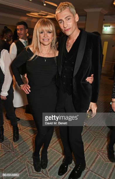 Jo Wood and Kyle De'Volle attend as Jo Wood launches her organics range at Fortnum Mason on April 5 2017 in London England