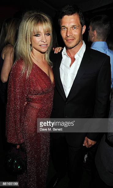 Jo Wood and model Paul Sculfor attend the afterparty following the Glamour Women of the Year Awards 2009 at Berkeley Square Gardens on June 2 2009 in...