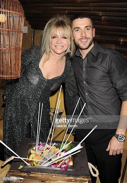 Jo Wood and Shane Ward attend The Mahiki Christmas Party at Mahiki London on December 15 2010 in London England