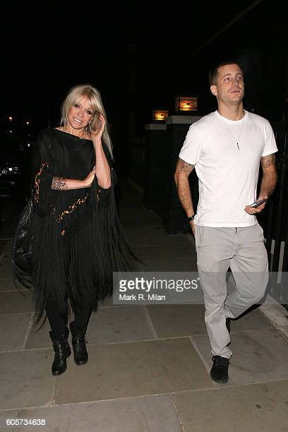 Jo Wood and Tyrone Wood at Blakes Hotel on September 14 2016 in London England