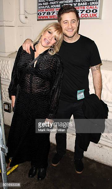 Jo Wood and Tyrone Wood at the Scala in Kings Cross on December 16 2015 in London England