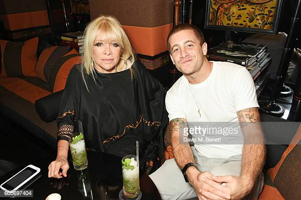 Jo Wood and Tyrone Wood attend as Blakes hotel celebrates the launch of Blakes Below a luxury bar and lounge designed by Anouska Hempel on September...
