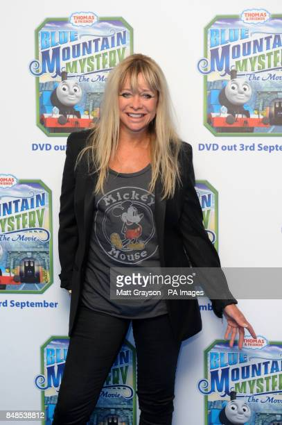 Jo Wood arriving at the premiere of Thomas and Friends Blue Mountain Mystery at Vue Cinema Leicester Square London PRESS ASSOCIATION Photo Picture...